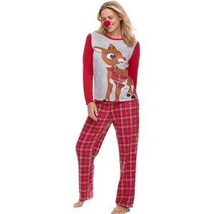 Womans Rudolf Christmas Family Pajamas